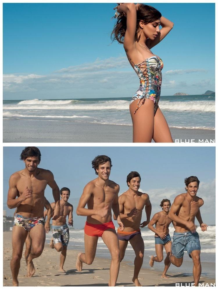 Setembro 2011: A recém lançada campanha de Verão 2012 da Blue Man conta com Terry Richardson fotografando a modelo transexual Lea T. e o modelo Murilo Rezende, assassinado em seu apartamento em agosto deste ano