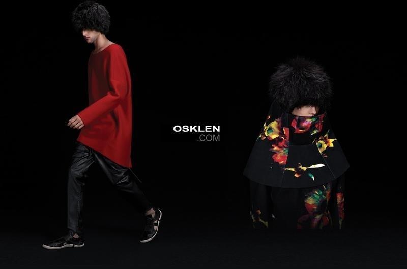 Setembro 2011: De peruca, o modelo Max Motta estrela a campanha de Verão 2012 da marca carioca Osklen