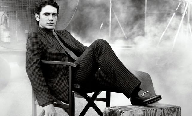 Outubro 2011: James Franco estrela a campanha do novo serviço de ternos sob medida da Gucci. O ator é frequentemente visto usando criações da grife e já estrelou a campanha do perfume Gucci by Gucci, em 2008