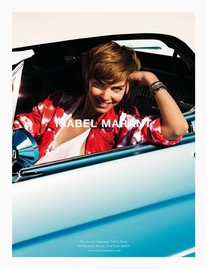 Janeiro: Uma das grifes francesas mais cobiçadas do ano passado, a Isabel Marant escalou a top queridinha dos fashionistas Arizona Muse para estrelar sua campanha Verão 2012. As fotos são da dupla Inez & Vinoodh