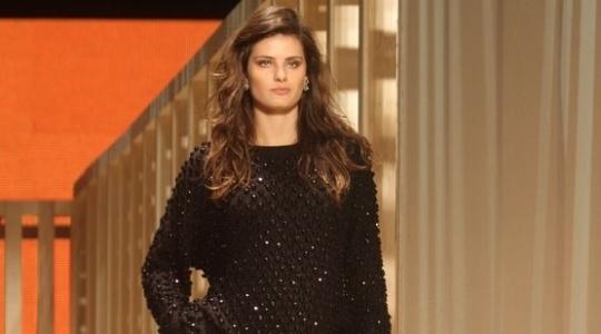 Isabeli Fontana durante desfile da Maria Filó para o Inverno 2012 durante o Fashion Business (11/01/2011)