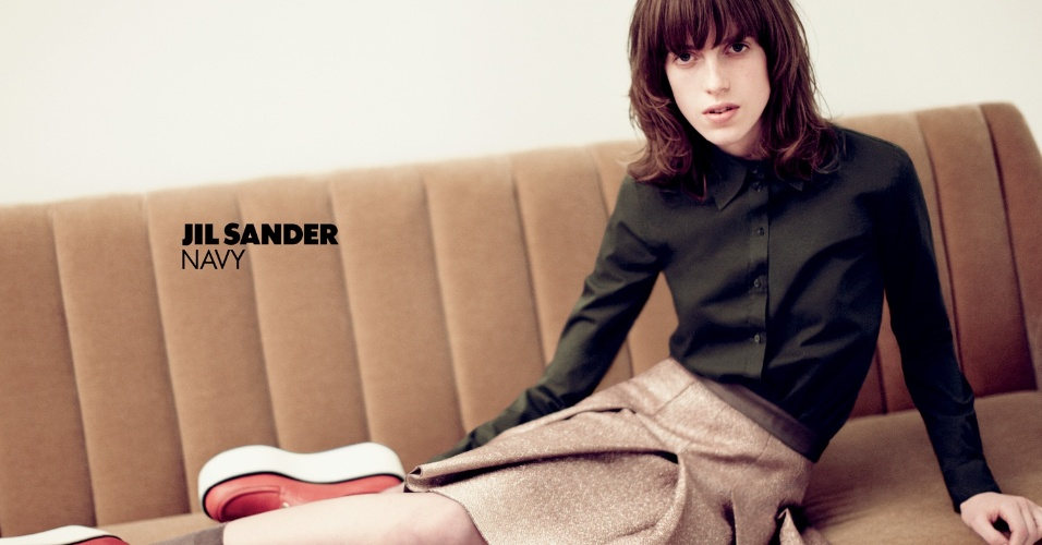 Janeiro: A campanha Verão 2012 da Jil Sander conta com a modelo norte-americana Sojourner Morrell, em fotos de Daniel Jackson e styling assinado por Katie Shillingford