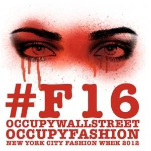 "Cartaz do ""Occupy Fashion"", realizado pelo grupo do Occupy Wall Street"