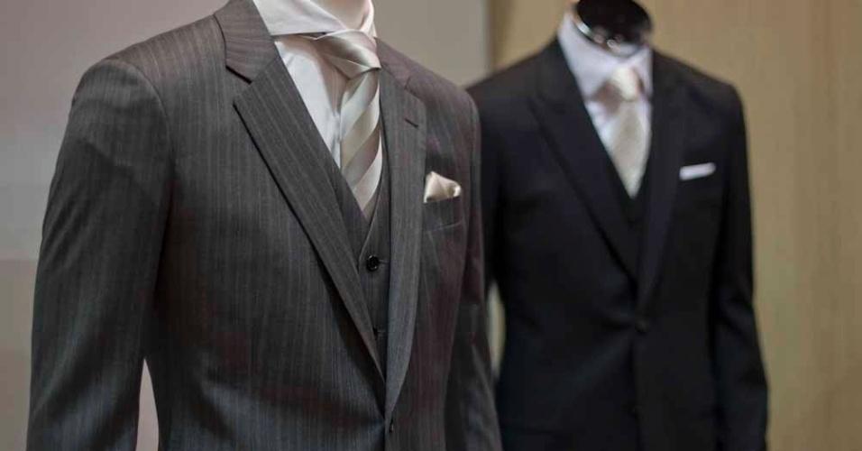 A moda masculina também esteve presente no evento. Especializado em alfaiataria, Ricardo Almeida tem ternos de lã fria a partir de R$ 4.500
