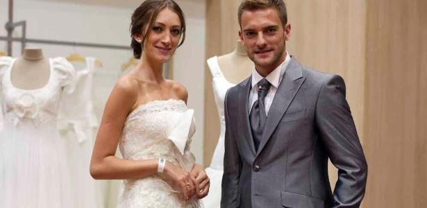 Modelos da Black Tie, loja especializada em casamento e que passou a investir em trajes exclusivos de marcas importadas