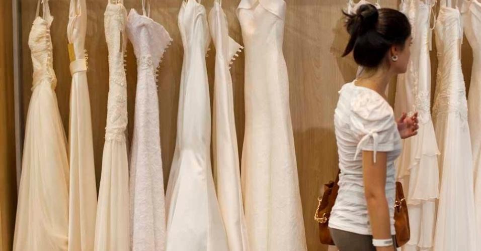 Os vestidos da Solaine Piccoli tem aluguel a partir de R$ 5.800 na linha prêt-à-porter e R$ 9.800, na linha Couture