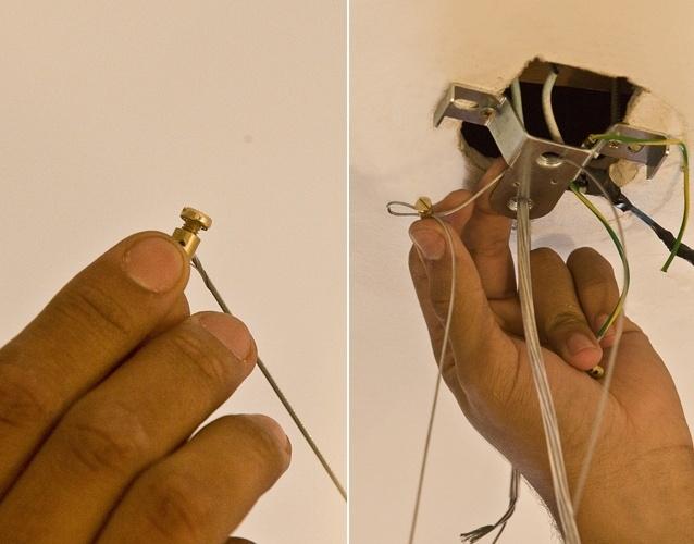 Passo a passo ensina a instalar luminária/ pendente