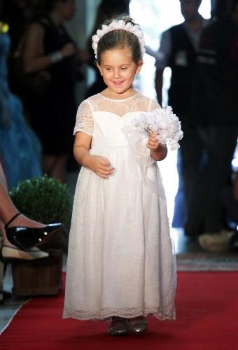 O Fashion Kids, evento voltado para a moda infantil, mostrou opções para as noivinhas, como esta da Paola da Vinci (21/03/2012)