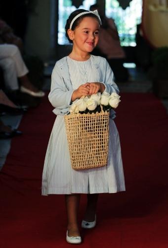 Para um casamento durante o dia, o vestido azul bebê é uma boa opção para as noivinhas, como este da Primo Bambino (21/03/2012)