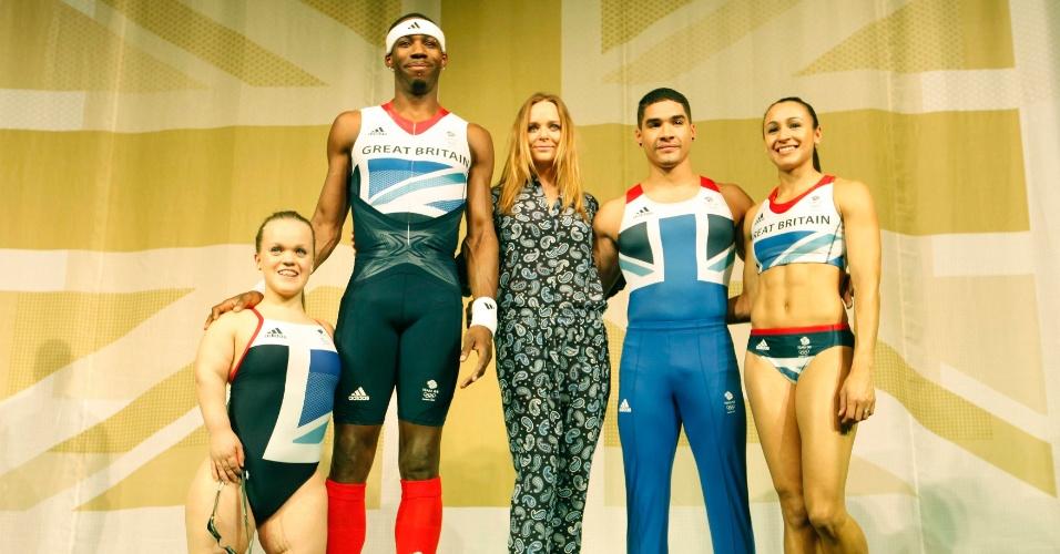 9fb5df75d Stella McCartney apresenta os uniformes da Grã Bretanha para as Olimpíadas  de 2012 durante evento em