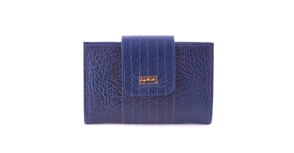 Carteira média azul; R$ 268, na Luiza Barcelos (SAC: 31 2102-0100)