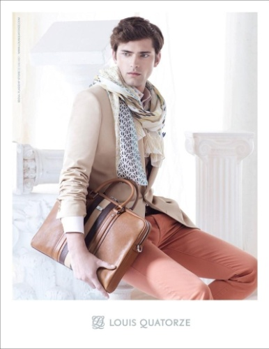 Sean O'Pry em campanha da marca francesa Louis Quatorze para o Verão 2012
