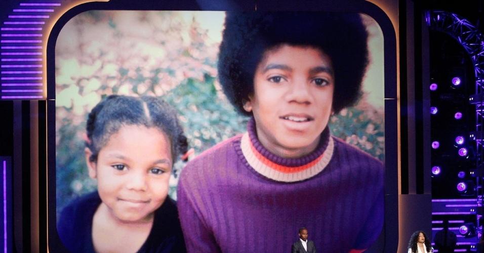 Michael Jackson é homenageado em premiação de música negra BET Awards, em Los Angeles (28/06/2009)