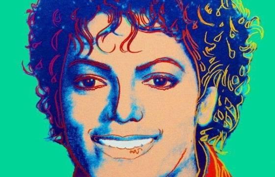 Retrato de Michael Jackson pintado por Andy Warhol em 1984