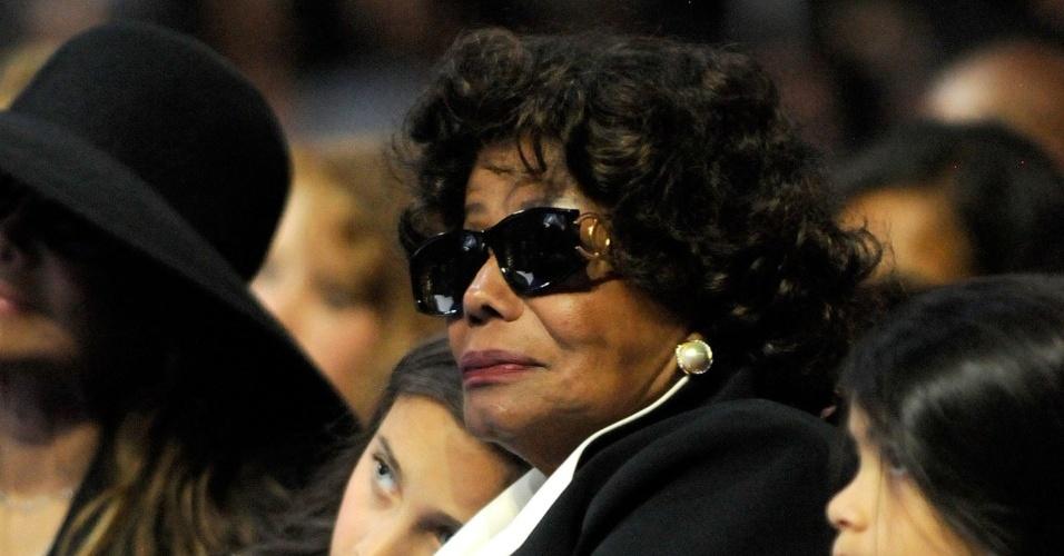 Katherine Jackson no funeral do Michael, em Los Angeles (07/07/2009)