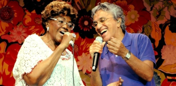 Dona Ivone Lara e Caetano Veloso na gravao do primeiro DVD da sambista, no Rio de Janeiro (11/08/2009)