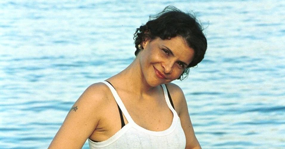A cantora Marina Lima no Rio de Janeiro (05/12/2001)