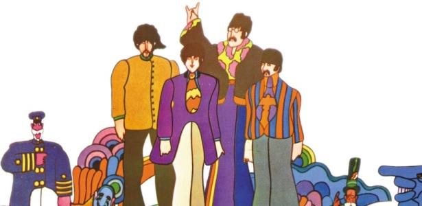 Versão dos Beatles como personagens do desenho animado Yellow Submarine