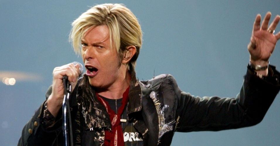 David Bowie durante show da