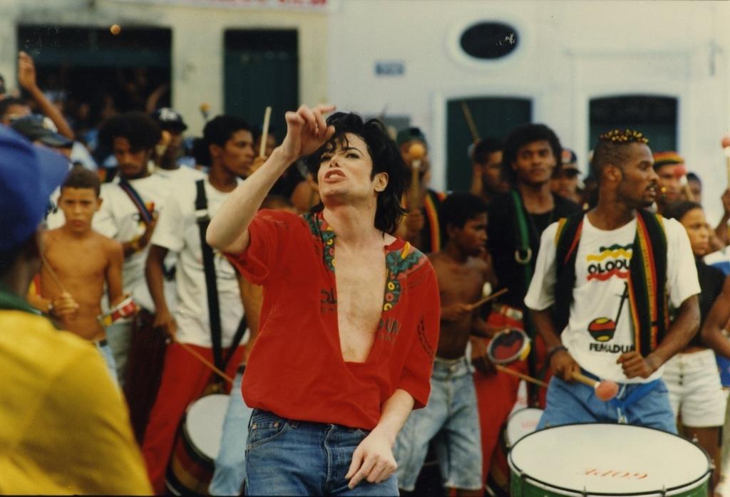 Michael Jackson durante gravação do clipe