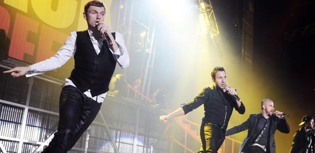 Backstreet Boys durante show em Zurique, na Suiça (17/11/2009)