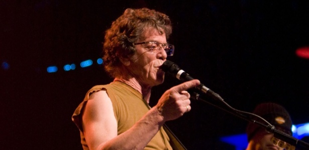 Lou Reed durante show no Electric Factory, na Pennsylvania (19/04/2008)