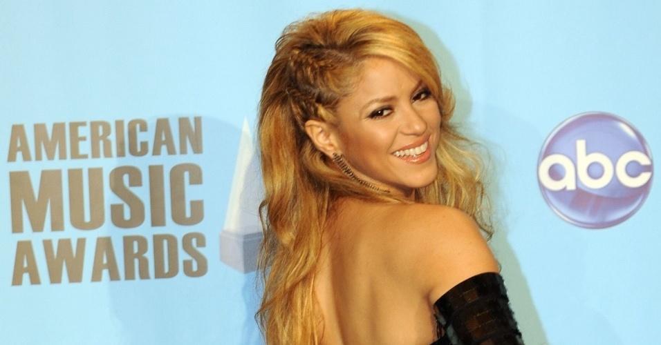 Shakira na premiação American Music Awards, em Los Angeles, EUA (21/11/2009)