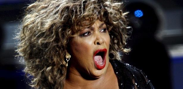 A cantora norte-americana Tina Turner durante show na Holanda (21/03/2009)