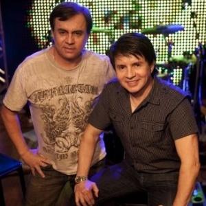Chitãozinho e Xororó na gravação do UOL Megashow, em São Paulo