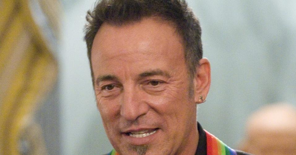 Bruce Springsteen durante a cerimônia em que foi homenageado como ícone da cultura norte-americana, em Washington (05/12/2009)