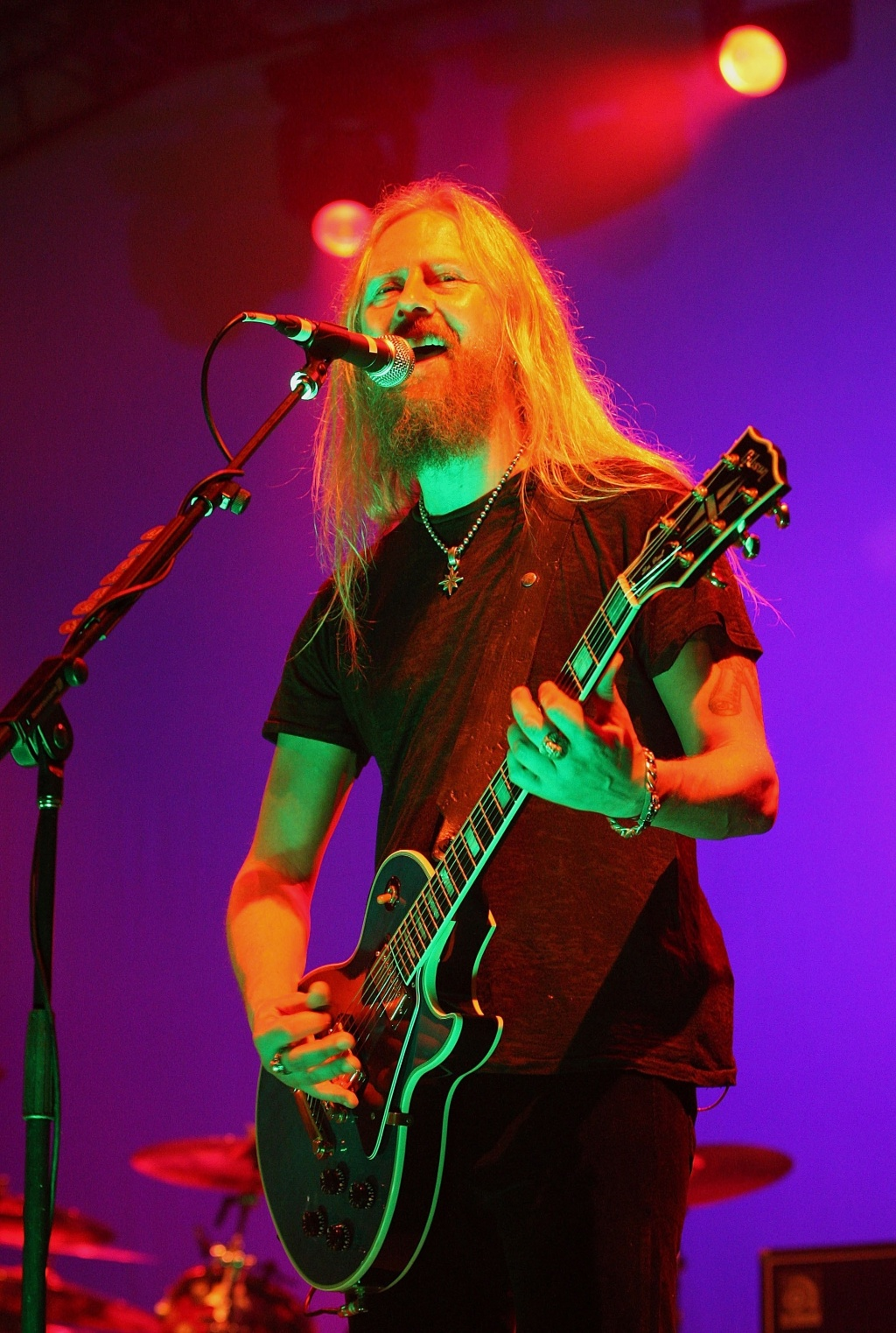 O guitarrista do Alice In Chains, Jerry Cantrell, durante show da banda no Soundwave Festival em Brisbane, na Austrália (21/02/2009)