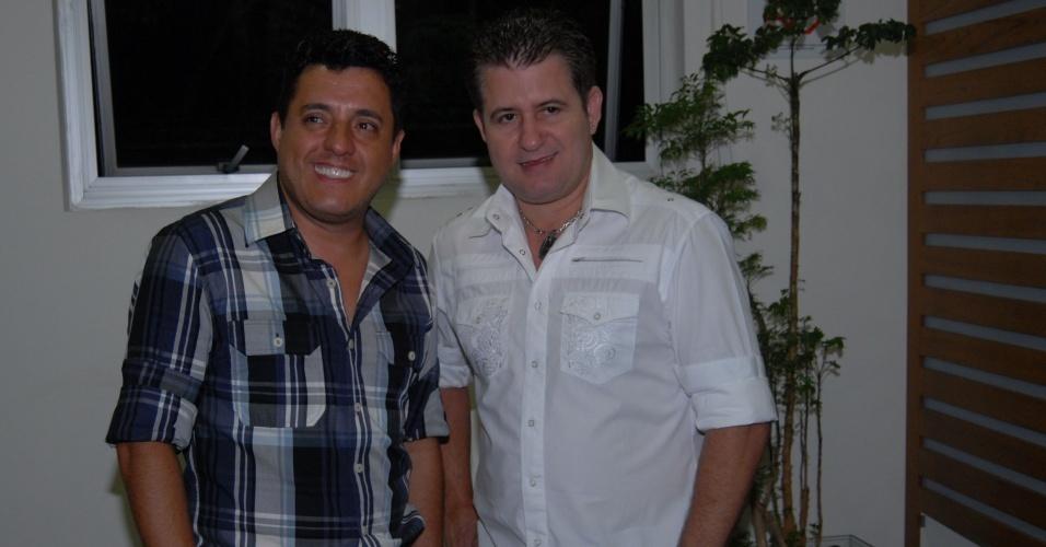 Bruno e Marrone após show no Credicard Hall, em São Paulo