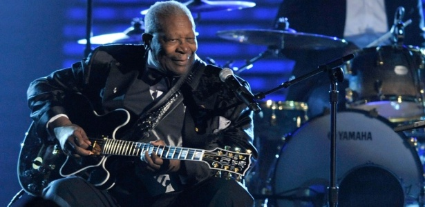 B.B. King durante show no 51º Grammy no Staples Center, em Los Angeles (08/02/2009)