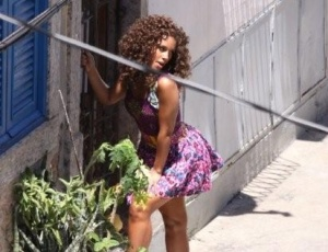 A cantora Alicia Keys durante filmagem do clipe da cano 