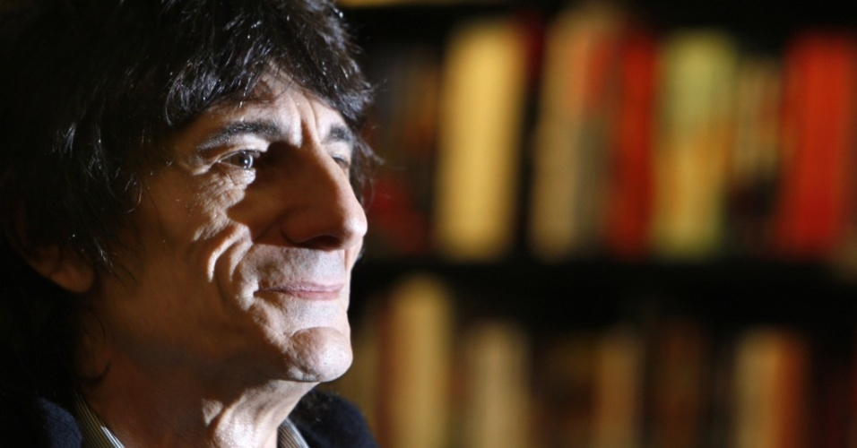 Ronnie Wood, guitarrista do Rolling Stones, durante evento em Londres (16/10/2007)
