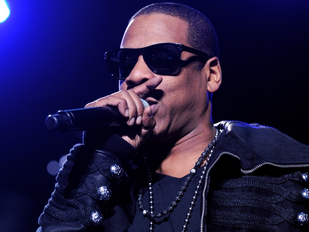 Jay-Z durante arpesentao em Los Angeles (26/03/2010)