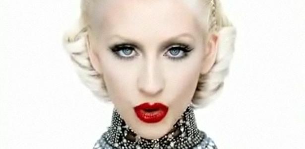 Christina Aguilera em cena do clipe de