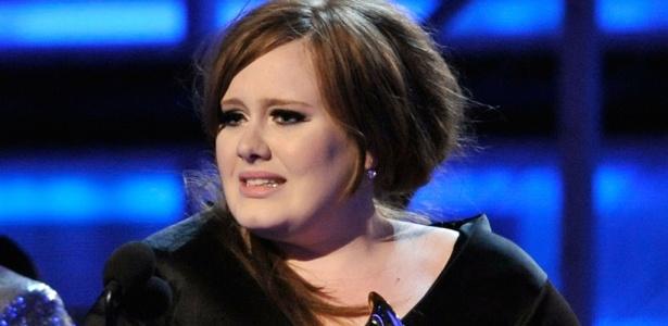 A cantora Adele durante premiação do Grammy 2009 no Staples Center, em Los Angeles (08/02/2009)