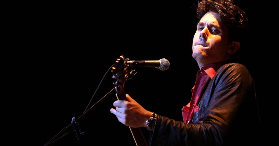 John Mayer durante show no Vector Arena em Auckland, na Nova Zelândia (28/04/2010)