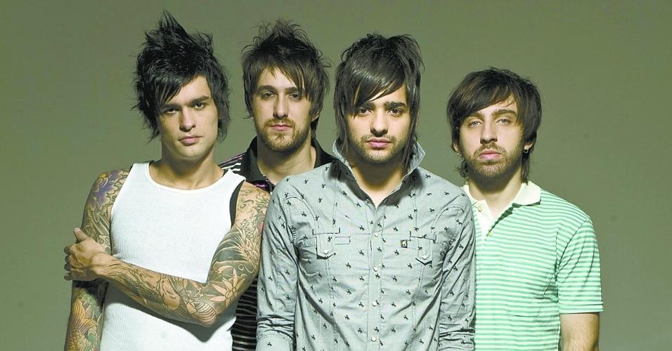 Os integrantes da banda Fresno