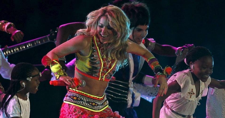Shakira faz show no encerramento da Copa da África (11/07/2010)
