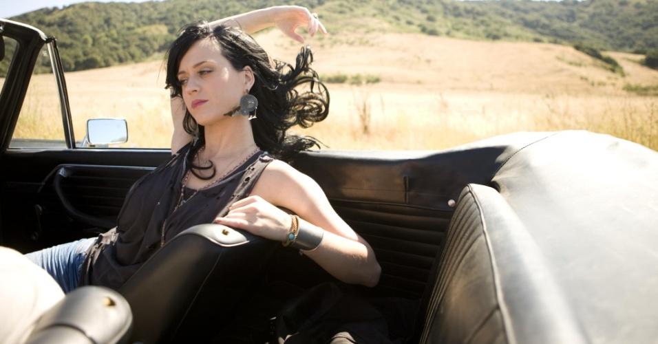 Katy Perry durante gravação do clipe