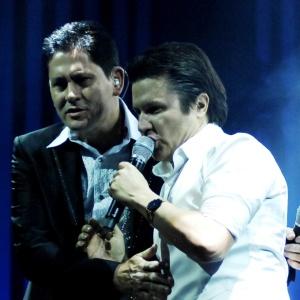 A dupla Gian e Giovani durante apresentação na Festa do Peão de Barretos (25/08/2010)