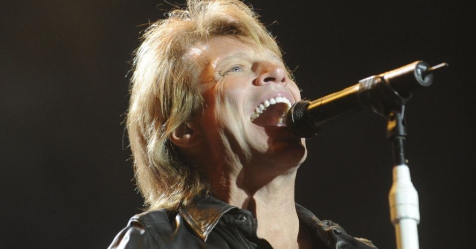 Jon Bon Jovi em show da banda Bon Jovi em Buenos Aires, Argentina (03/10/2010)