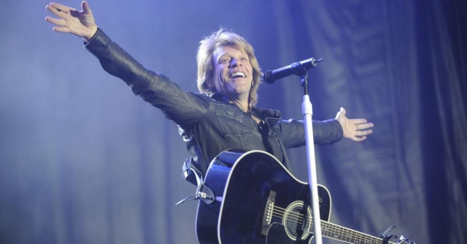 Jon Bon Jovi em show da banda Bon Jovi em Buenos Aires, na Argentina (03/10/2010)