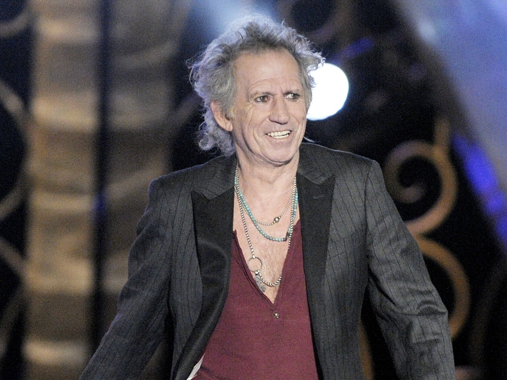 O guitarrista do Rolling Stones, Keith Richards, em premiao em Los Angeles, EUA (17/10/2009)