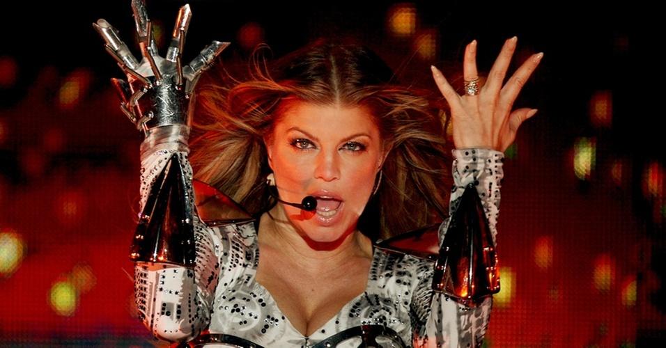 Fergie durante show do Black Eyed Peas no estádio do Morumbi, em São Paulo (04/11/2010)