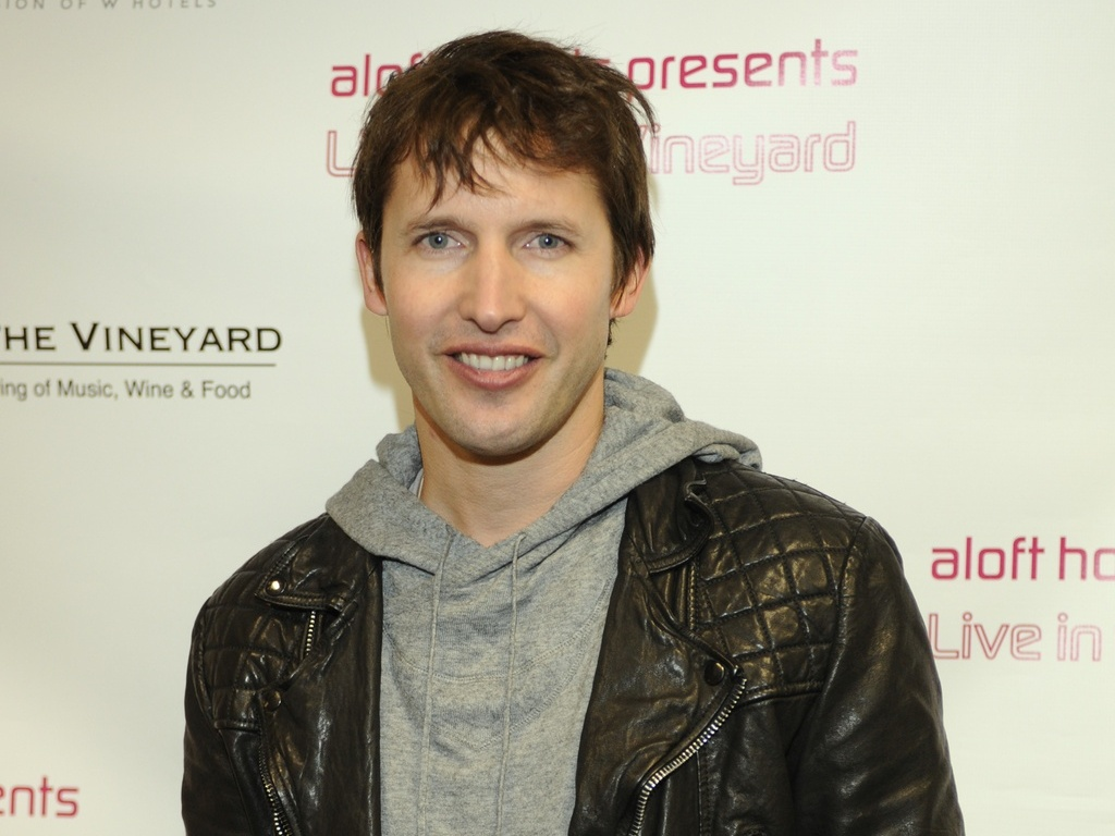 O cantor James Blunt em evento na Califrnia, EUA (14/11/2010)