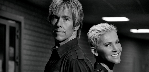 O guitarrista Per Gessle e a cantora Marie Fredriksson, da dupla Roxette