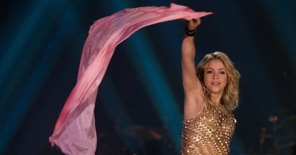 Shakira se apresenta em Barcelona (24/11/2010)